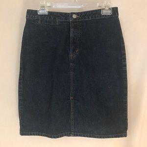 Gap denim knee length skirt